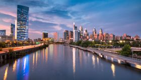 City skyline view of Philadelphia Pennsylvania